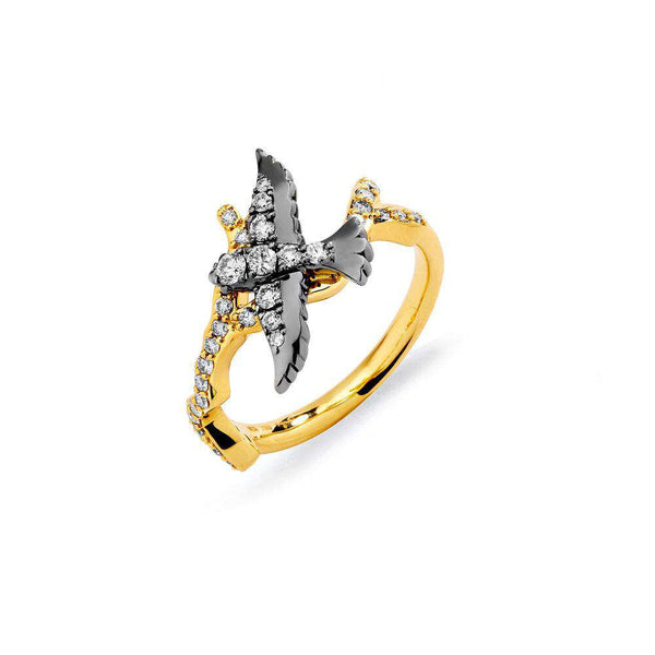 Jardin Diamond Swallow Ring