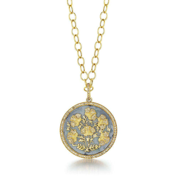 Jardin Diamond Flowers Pendant