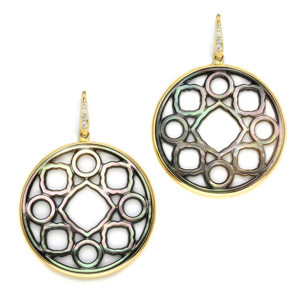 Mother of Pearl Mogul Medallion Earrings