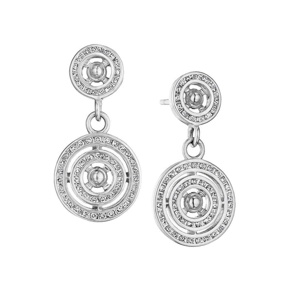 Cosmic Concentric Circle Diamond Earrings