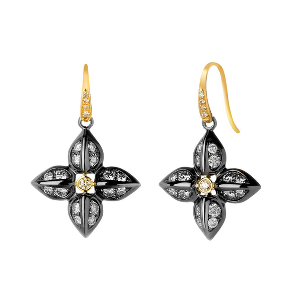 Jardin Diamond Flower Earrings