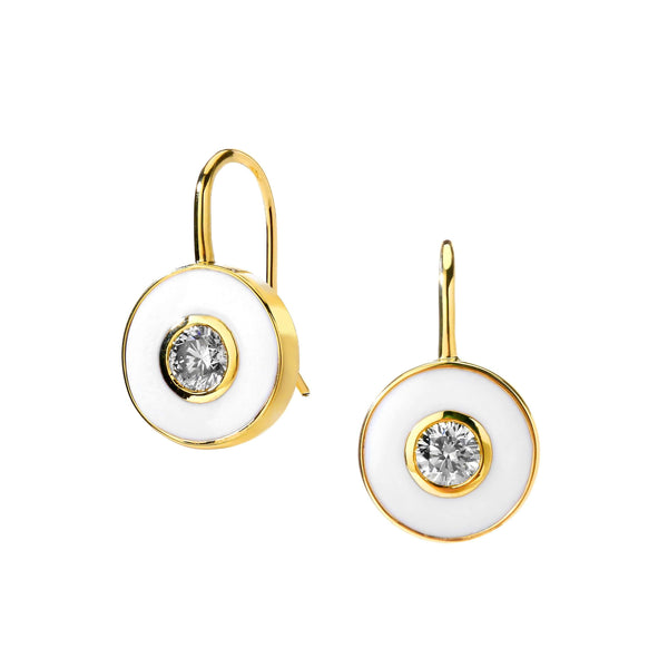 Cosmic Enamel Diamond Earrings