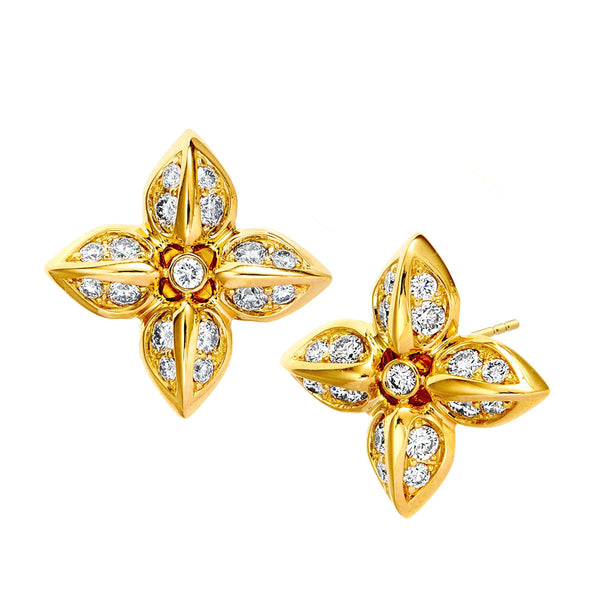 Jardin Diamond Flower Studs