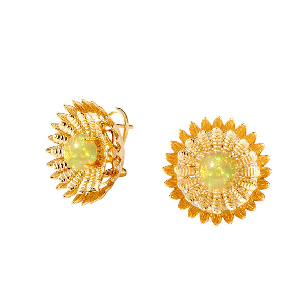 Jardin Sunflower Clip Earrings