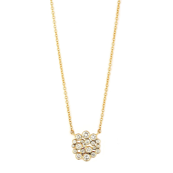Cosmic Cluster Diamond Necklace
