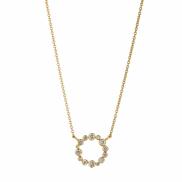 Cosmic Diamond Circle Necklace