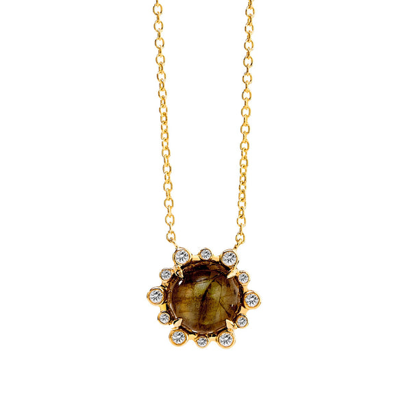 Mogul Gemstone Hex Necklace