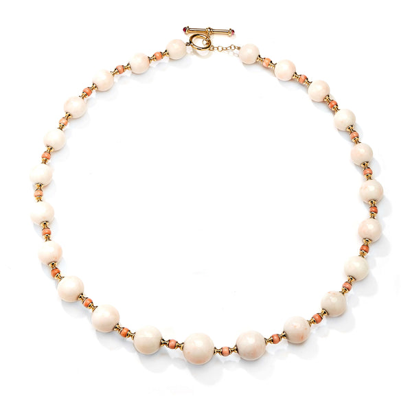 Mogul Coral Bead Necklace