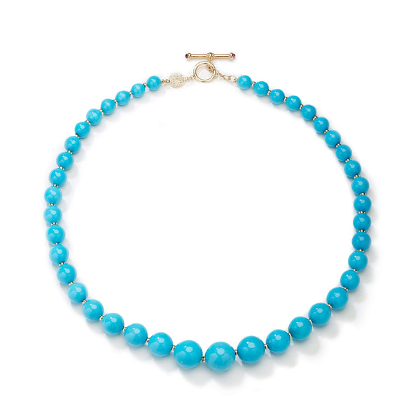 Mogul Sleeping Beauty Turquoise Bead Necklace
