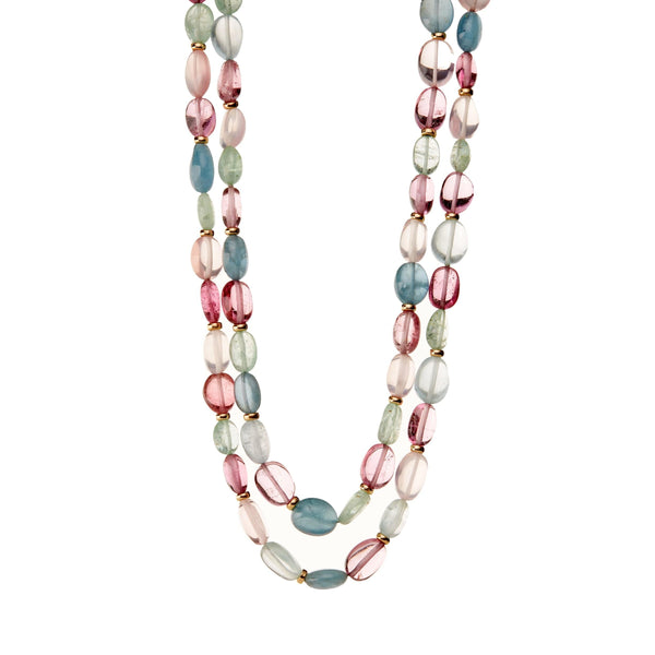 Mogul Pastel Gemstone Bead Necklace
