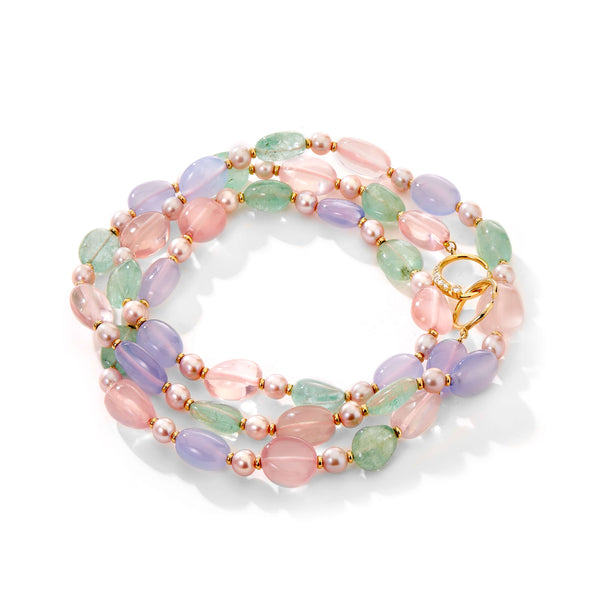Mogul Pastel Gem Bead Necklace