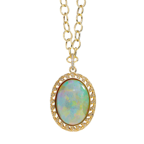 Mogul Opal Pendant with Diamonds