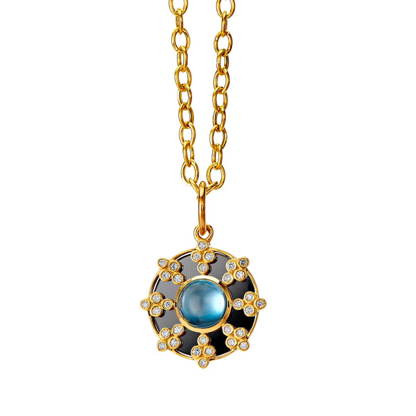Mogul London Blue Topaz Pendant
