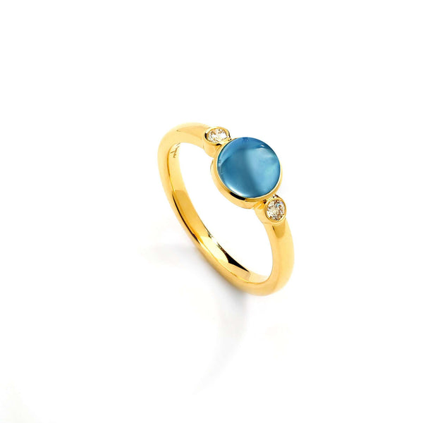 Candy Gemstone Ring with Diamonds