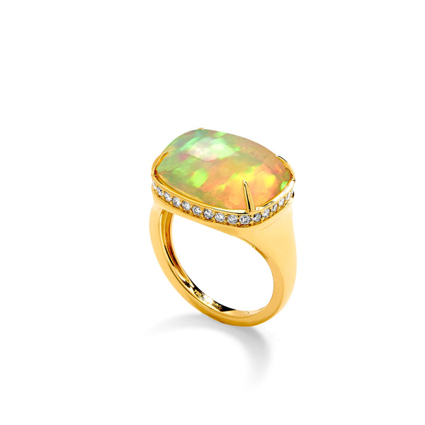 Mogul Rectangular Opal Ring
