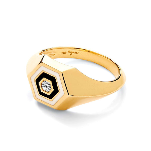 Hex Enamel Ring