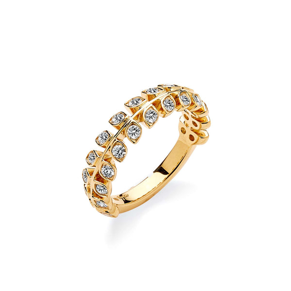 Jardin Diamond Leaf Ring
