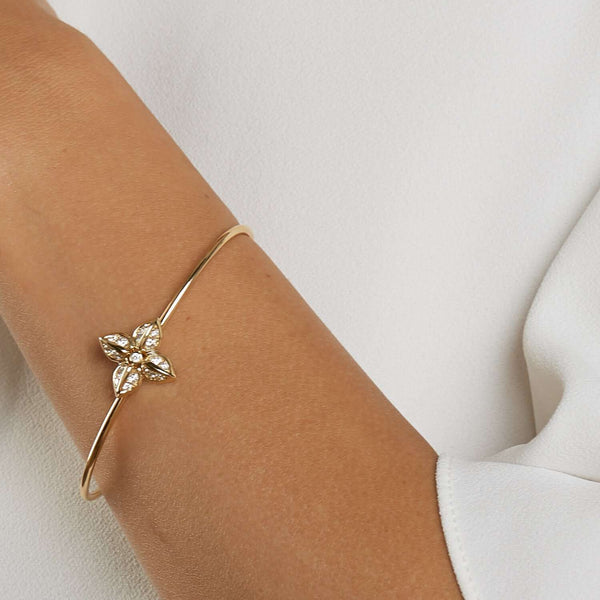 Jardin Diamond Flower Bracelets