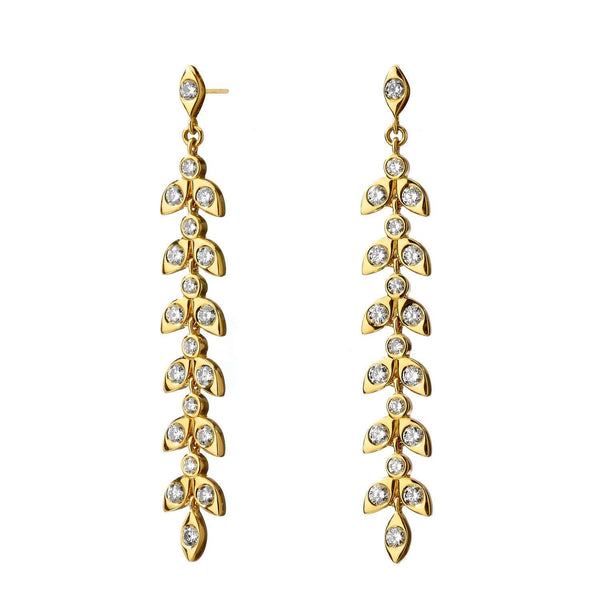 Jardin Diamond Leaf Earrings