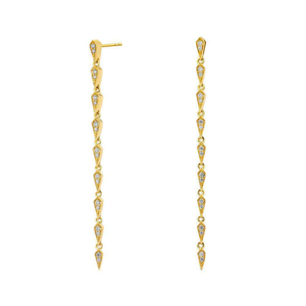 Long Mogul Diamond Earrings