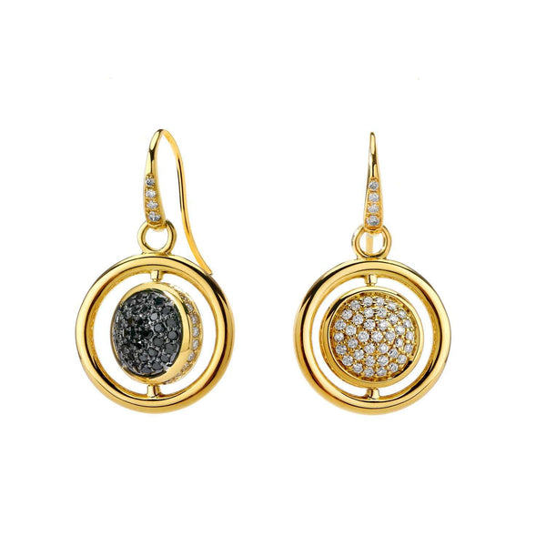 Cosmic Diamond Swivel Earrings