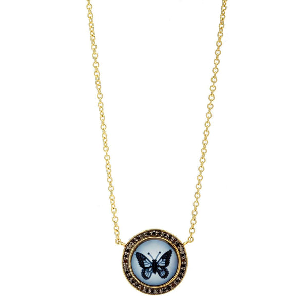 Jardin Butterfly Cameo Necklace