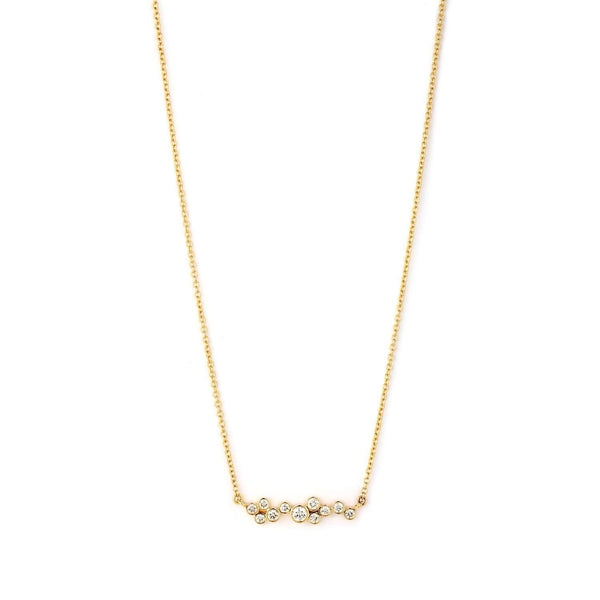 Cosmic Diamond Bar Necklace
