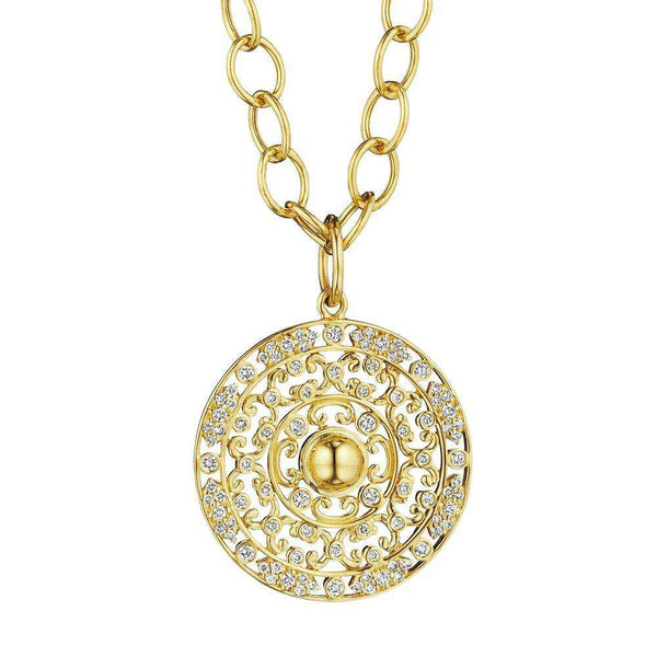 Mogul Diamond Medallion Pendant