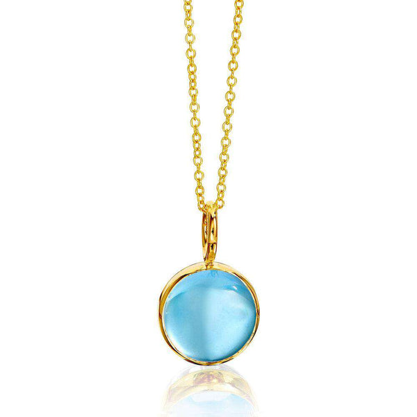 Candy Reversible Blue Topaz and Moon Quartz Pendant