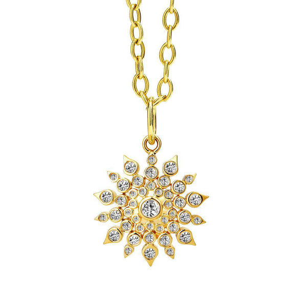 Cosmic Diamond Starburst Pendant