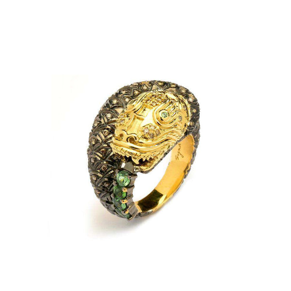 Jardin Large Snake Ring
