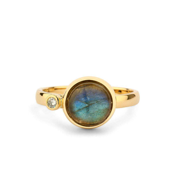 Candy Labradorite Diamond Ring