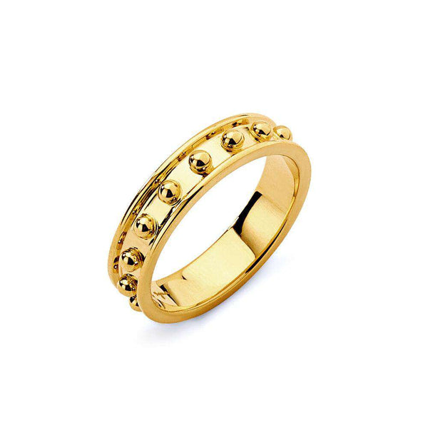 Large Mogul Gold Dots Band