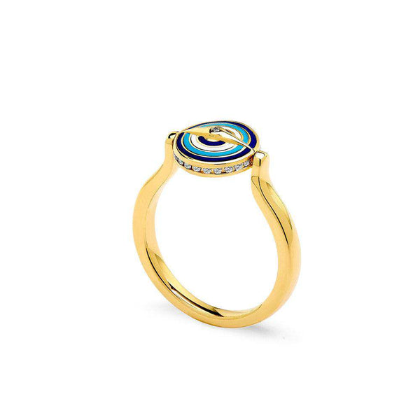 Chakra Small Reversible Evil Eye Ring