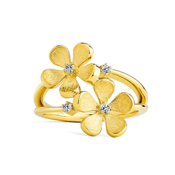 Jardin Satin Flowers Ring