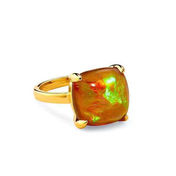 Candy Ethiopian Opal Sugarloaf Ring