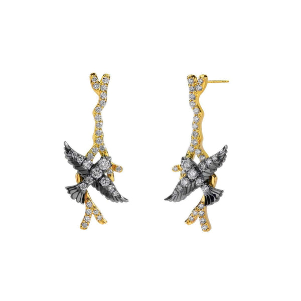 Jardin Diamond Swallow Earrings