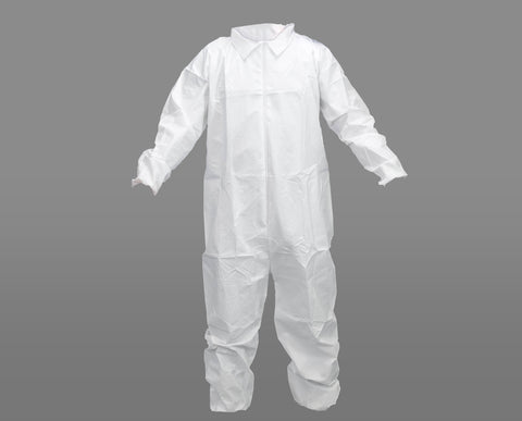 White Disposable Coveralls - 5 Pack