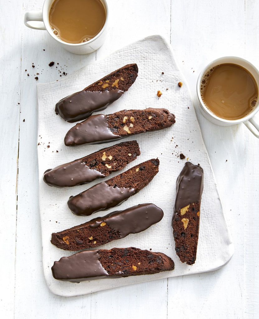 Chocolate Biscotti with Black Figs & Walnuts from Chocolate for Beginners