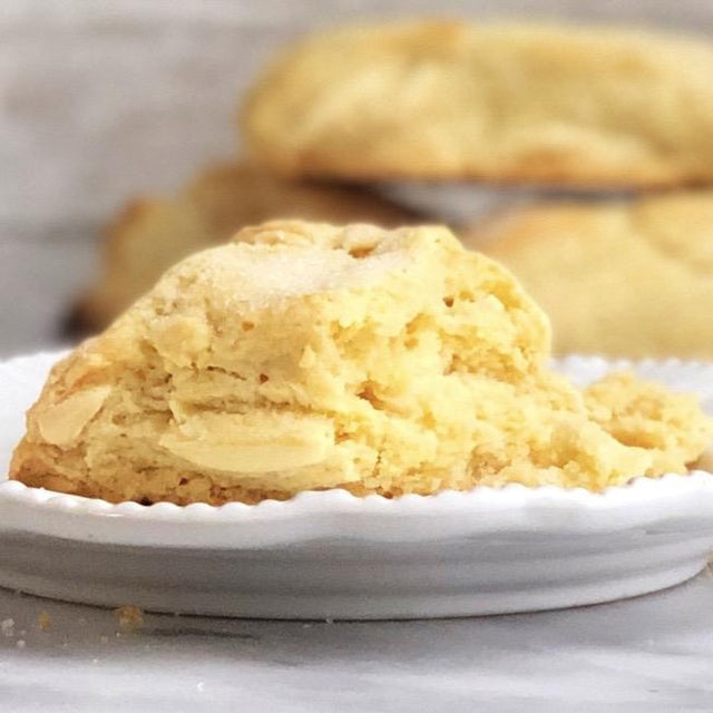 Meyer Lemon and White Chocolate Scones