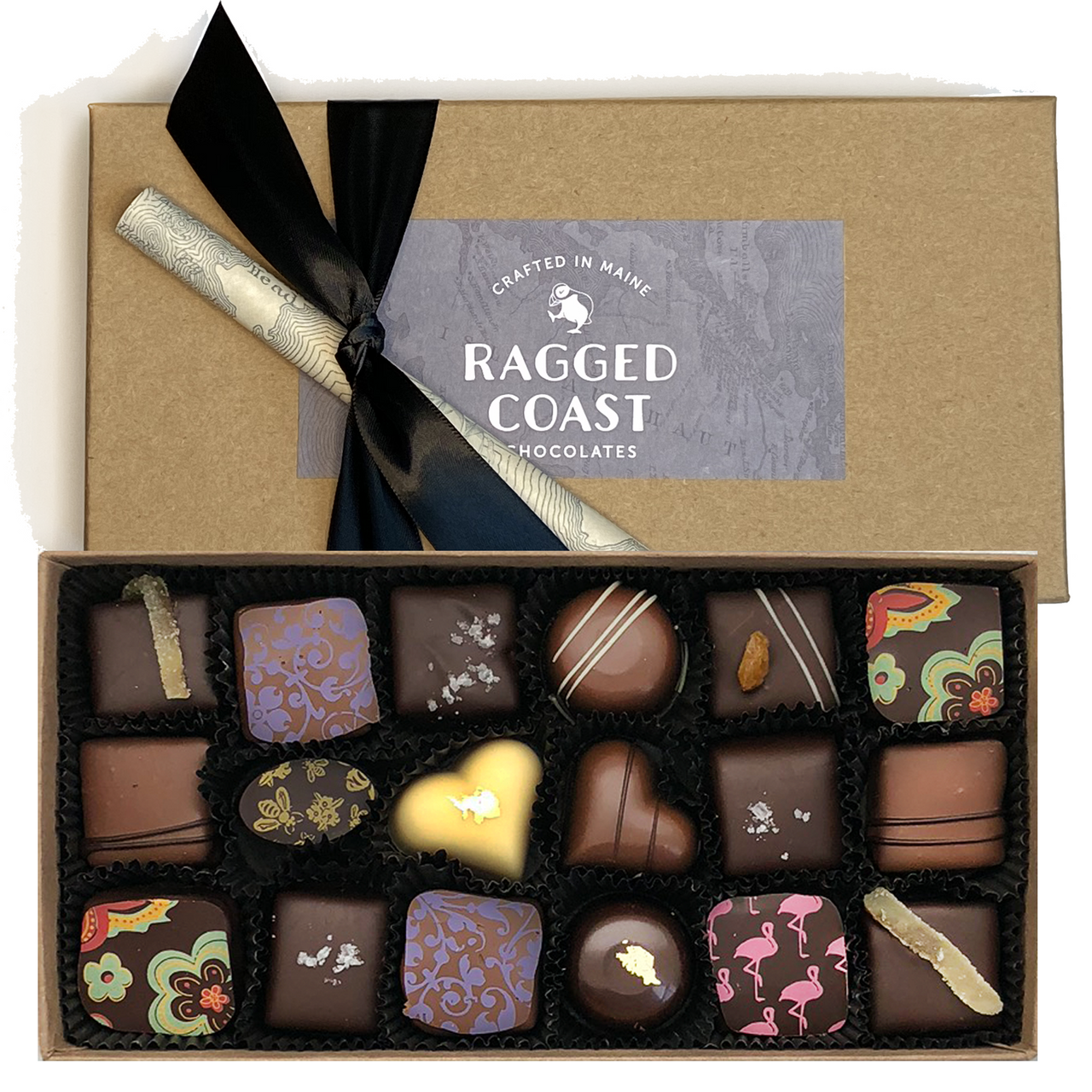 Eighteen-Piece Chocolate Gift - Milk & Dark Chocolate Truffles