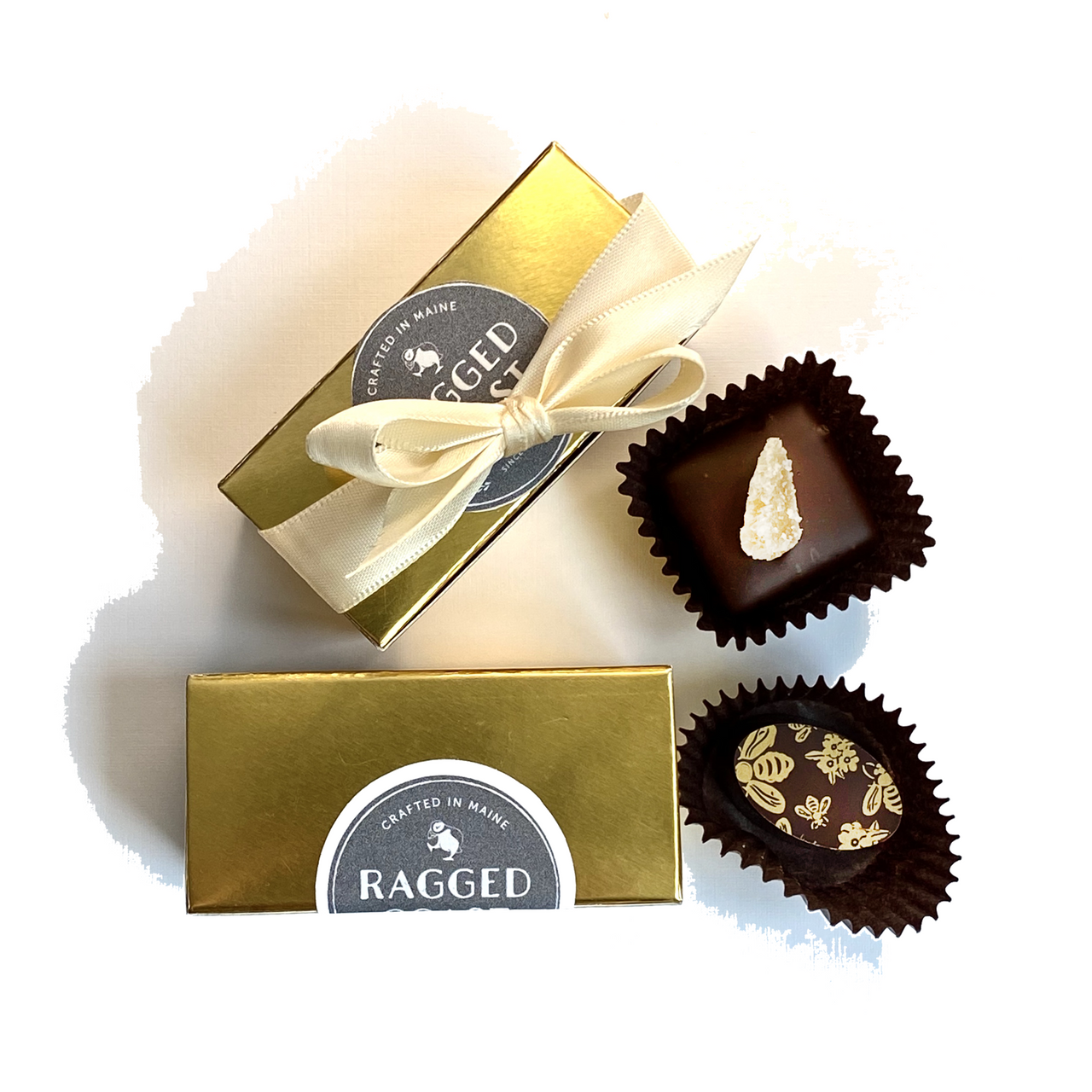 Bright Gold Two-Piece Chocolate Party Favor or Thank You Gift - Chocolatier's Choice