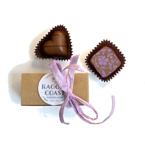 Kraft Two-Piece Chocolate Party Favor or Thank You Gift - Chocolatier's Choice
