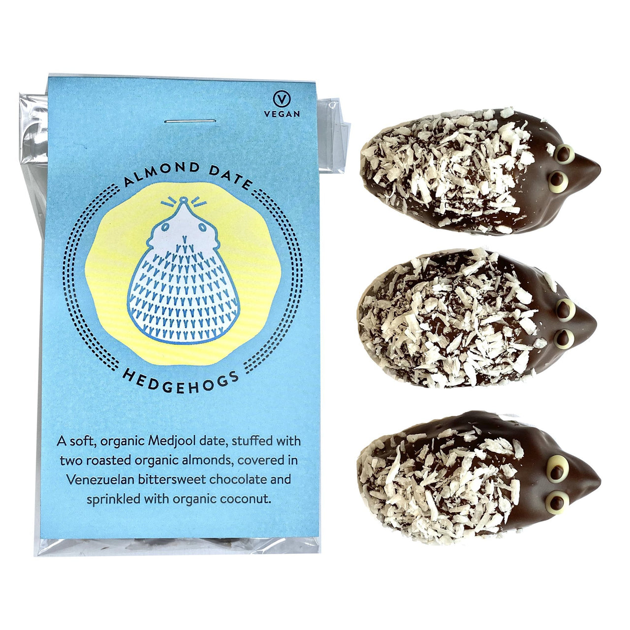 Almond Date Chocolate Hedgehogs-Vegan