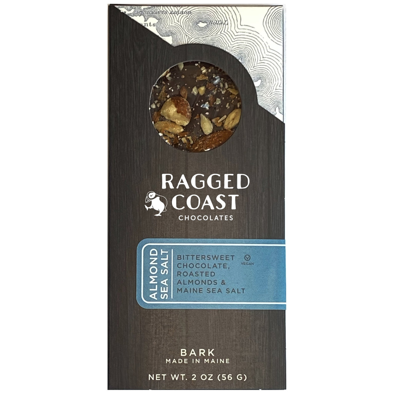 Dark Chocolate Almond & Maine Sea Salt Bark - raggedcoastchocolates