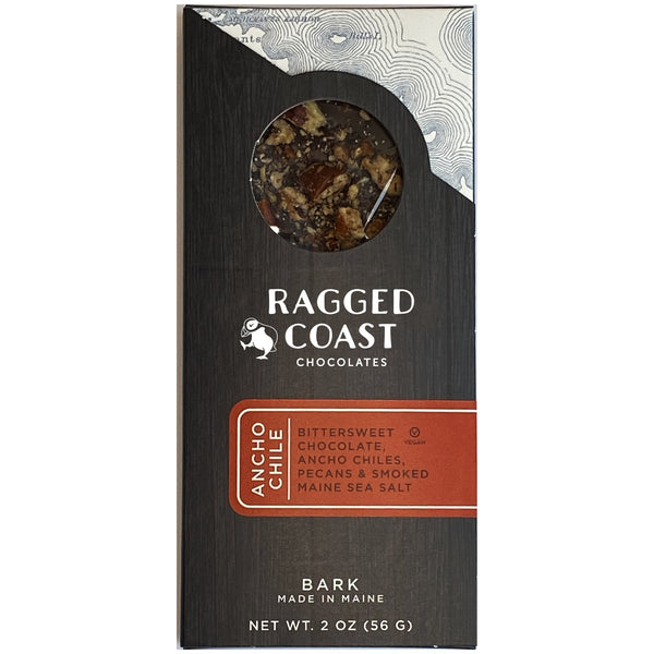 Dark Chocolate Ancho Chile and Roasted Pecan Bark - raggedcoastchocolates