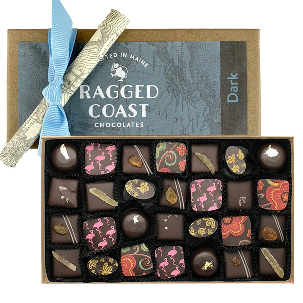 Box of Dark Chocolate Truffles - raggedcoastchocolates