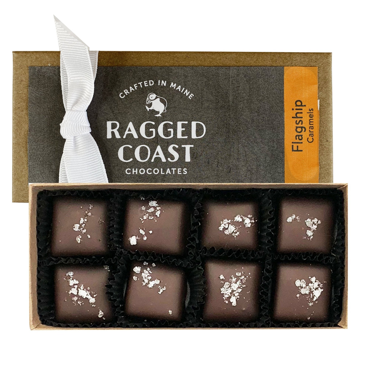 Dark Chocolate and  Sea Salt Caramels Gift Box- raggedcoastchocolates