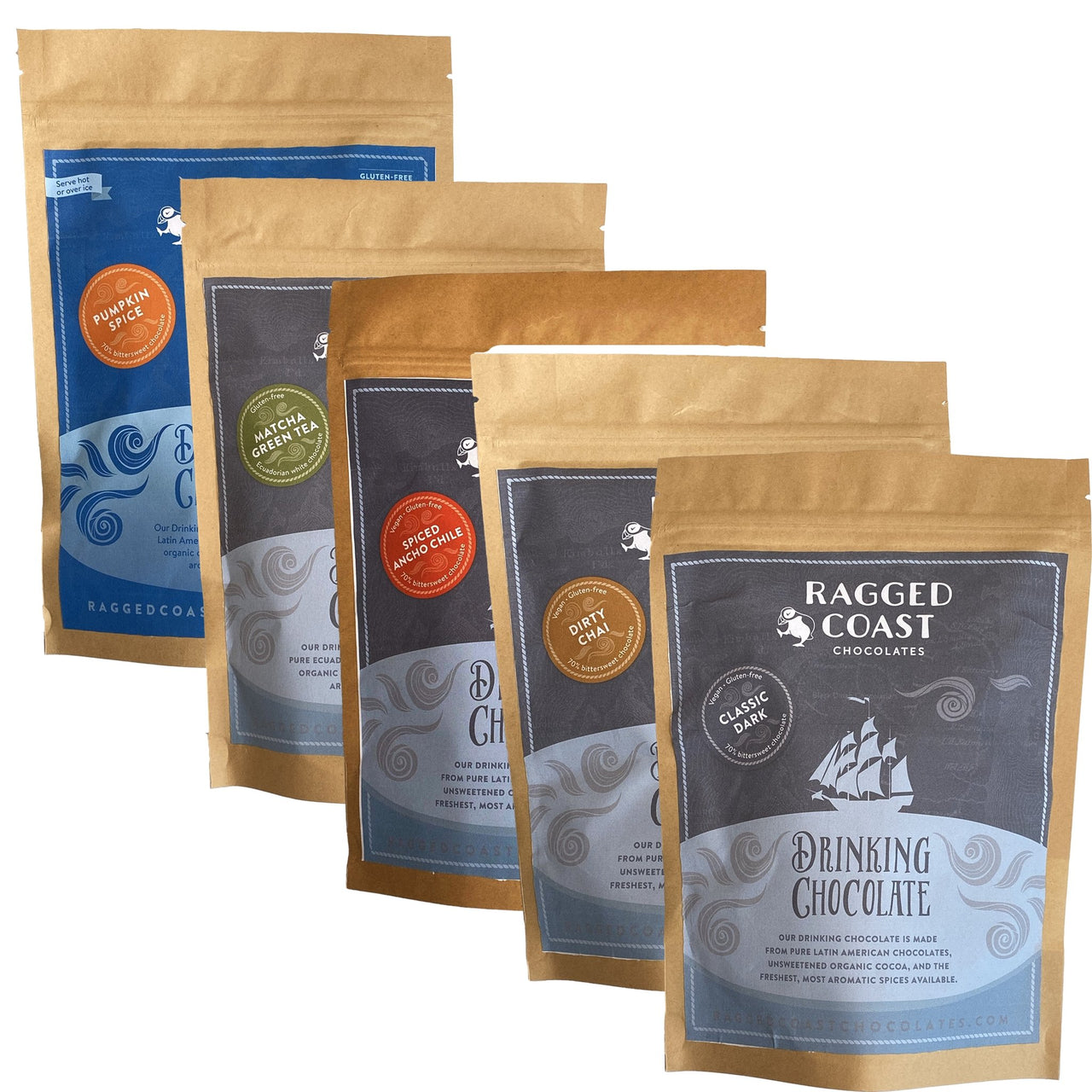 Gourmet Drinking Chocolate Gift Set - raggedcoastchocolates