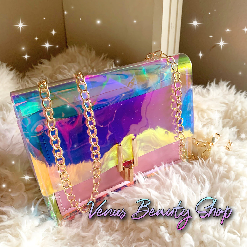 Iridescent Jelly Clutch